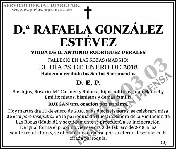 Rafaela González Estévez